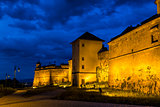 Night view of Brasov Fortress
