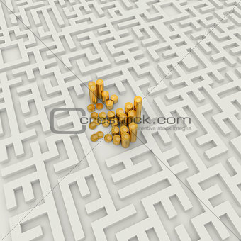 Gold Coins in the labyrinth