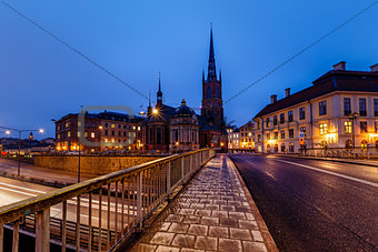 Riddarholmskyrkan Church in Stockholm Old Town (Gamla Stan) in t