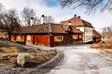Traditional Swedish Houses in Skansen National Park, Stockholm,