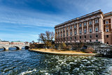 Norrbro Bridge and Riksdag Building at Helgeandsholmen Island, S
