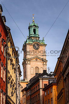 Cathedral of Saint Nicholas (Storkyrkan) Bell Tower, Stockholm,