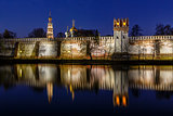 Stunning View of Novodevichy Convent in the Evening, Moscow, Rus