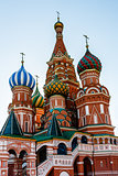 Cathedral of Vasily the Blessed on the Red Square in Moscow, Rus