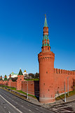 Moscow Kremlin Wall and Beklemishevskaya Tower, Russia