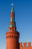 Beklemishevskaya (Moskvoretskaya) Tower of Kremlin and Kremlin W