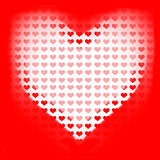 Love of valentines background. Big red heart