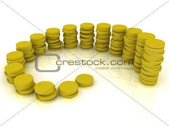 Monetary gold reserves coins