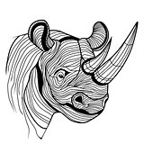 Rhino rhinoceros animal head