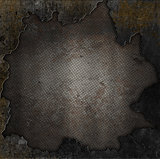 Grunge stone and rusty metal background