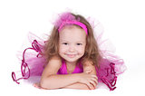 fashion little princess girl portrait