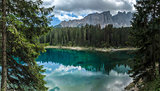 Carezza lake and Latemar, Nova Levante - Dolomites