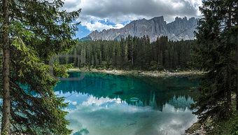 Carezza lake and Latemar, Nova Levante - Dolomites