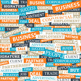 Seamless pattern, which is composed of words on business themes.