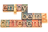 enjoy being different