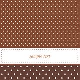 Brown vector background with white polka dots - card or invitation.