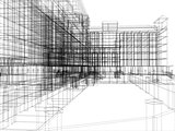 Wire-frame abstract archticture