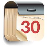 Calendar Date icon, vector Eps10 illustration.