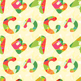 Colorful ABC Seamless Pattern Background