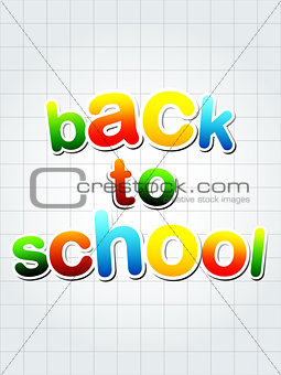 back to school over squared sheet