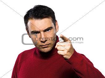 caucasian man gesture