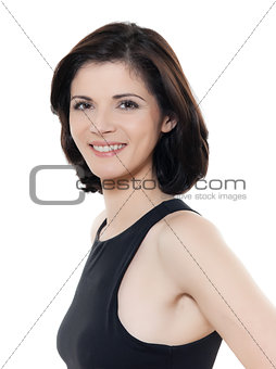beautiful smiling caucasian woman portrait