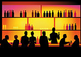 Bar with barkeeper