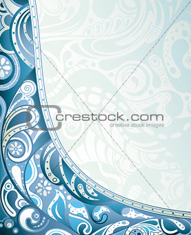 Abstract Blue Curve