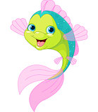 Cute cartoon fish