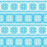 Nordic seamless christmas blue pattern
