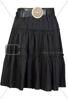 black fabric ladies skirt