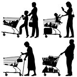 Supermarket shoppers