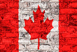 Canadian flag on wall