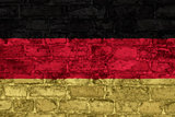 German flag on wall