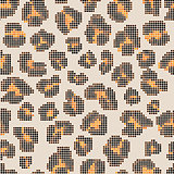 Leopard halftone background.