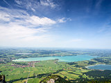Landscape with lake Forggensee Bavaria