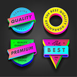 Premium quality multicolored labels, vector Eps10 image.