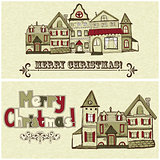 2 vector Christmas Postcards