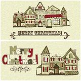 2 vector Christmas Postcards