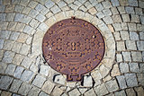 Budapest rusted sewer cap