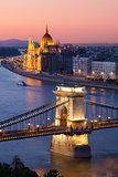 Budapest cityscape sunset