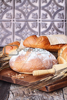Fresh Baked Loaves of Breads