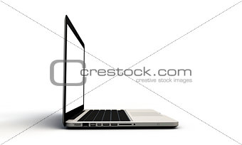 modern laptop open