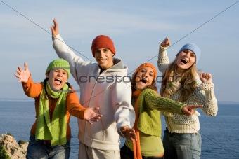 teens having fun