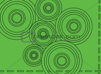 An Abstract Green background with circles