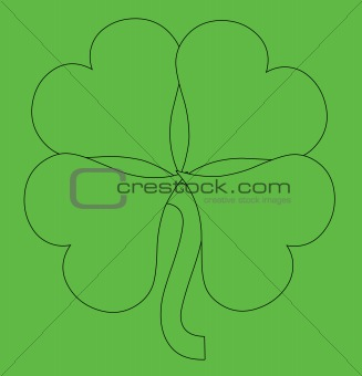 An Abstract Green shamrock