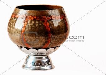 a monk's alms bowl