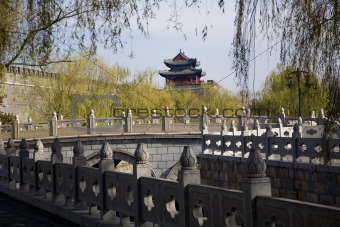 City Wall and Tower, Qufu, Shandong Province, China