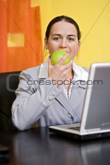 A bite in apple