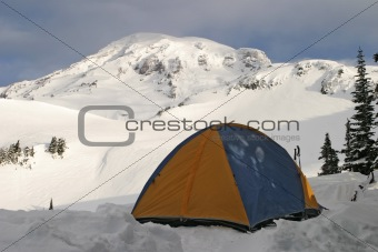 Tent On Mt. Rainier
